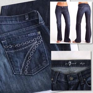 7 For All Mankind Dojo Jeans Chain Embroidery 29